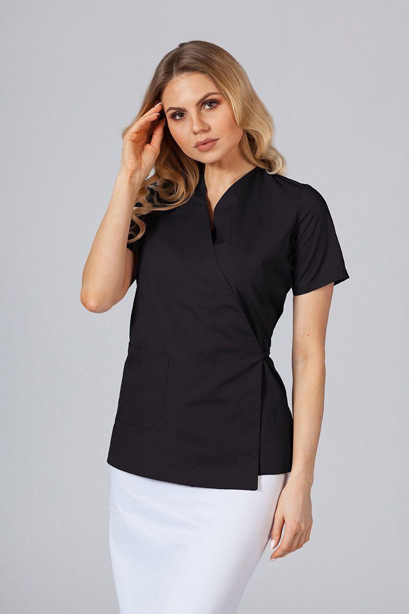 Zástěra/dámská blúzka s vázáním Sunrise Uniforms čierna