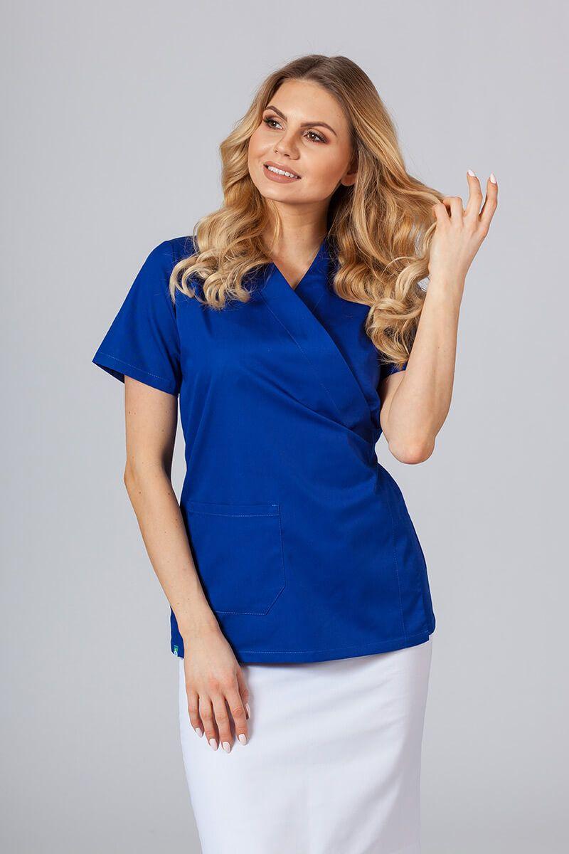 Zástěra/dámská blúzka s vázáním Sunrise Uniforms tmavo modrá
