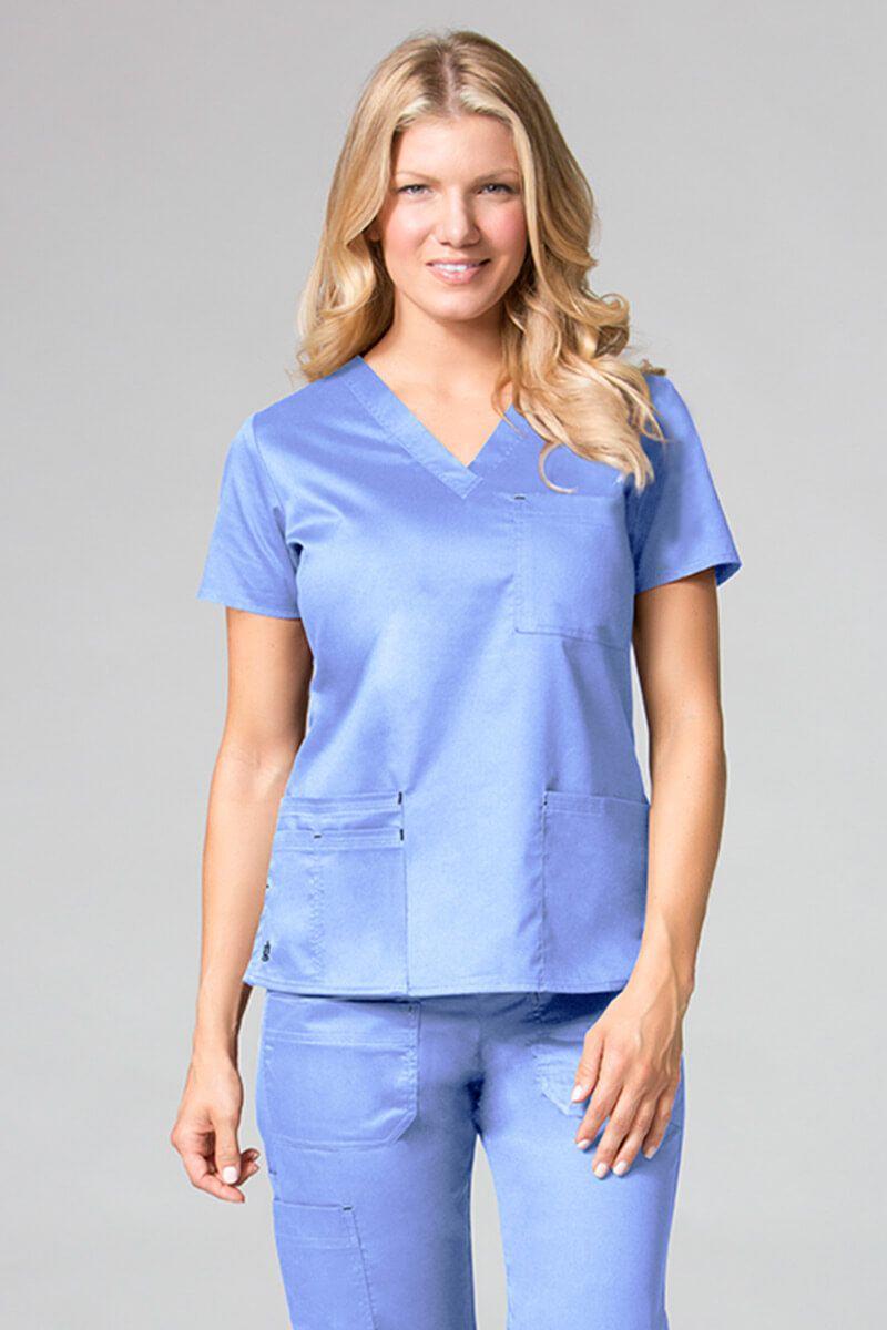 Lékařská halena Maevn Blossom (elastic) klasicky modrá