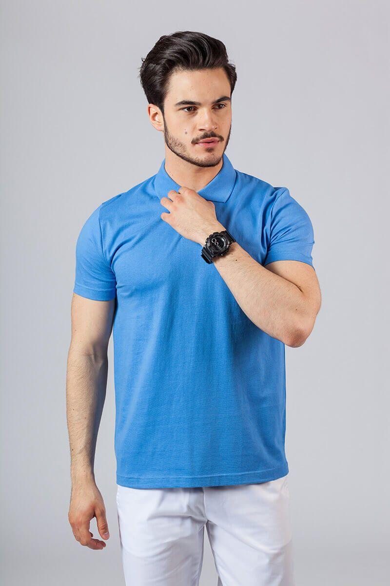 Pánské Polo tričko azure