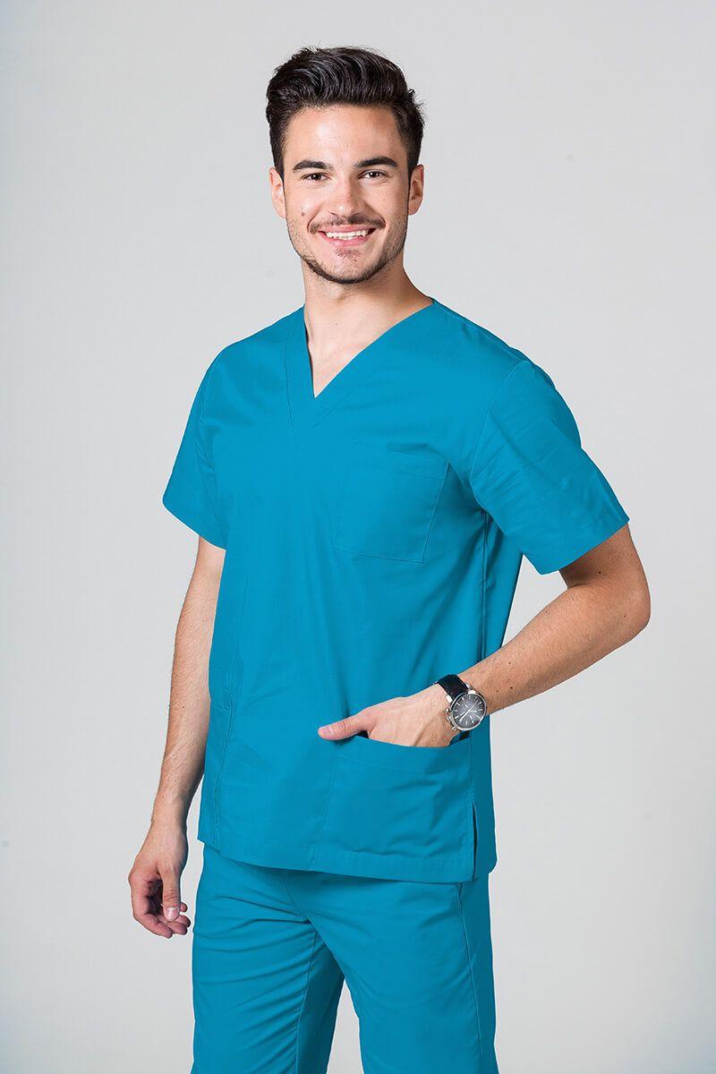 Univerzální lékařská mikina Sunrise Uniforms tyrkysová promo