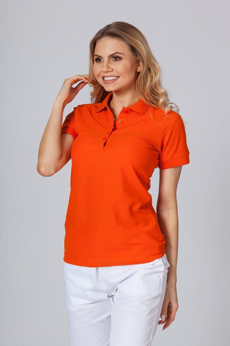 Dámské polo triko lahvově oranžové