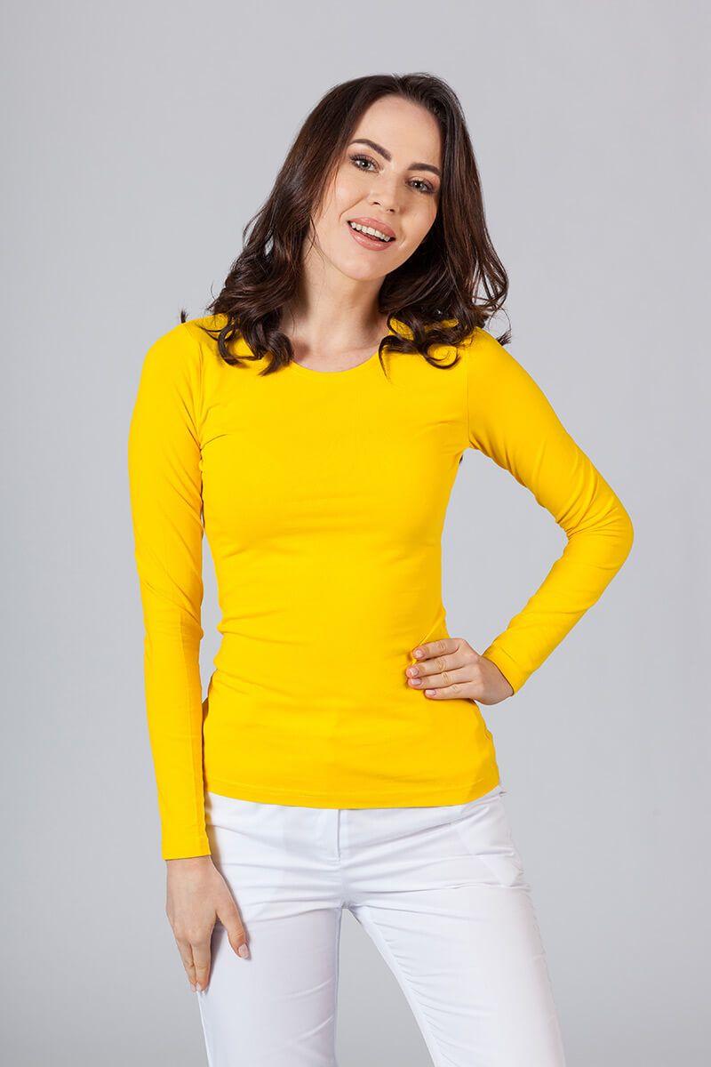Dámské tričko s dlouhým rukávem žluté