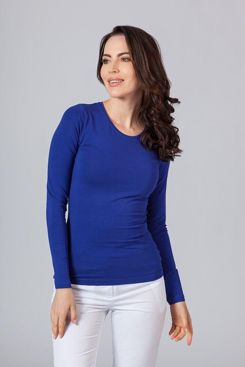 Dámske tričko s dlhým rukávom tmavo modré