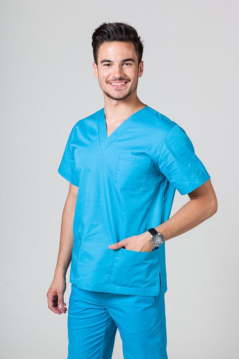 Univerzálna lekárska blúzka Sunrise Uniforms tyrkysová