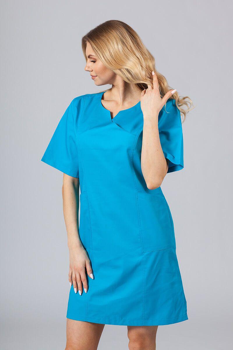 Lékařské Klasické šaty Sunrise Uniforms tyrkysové