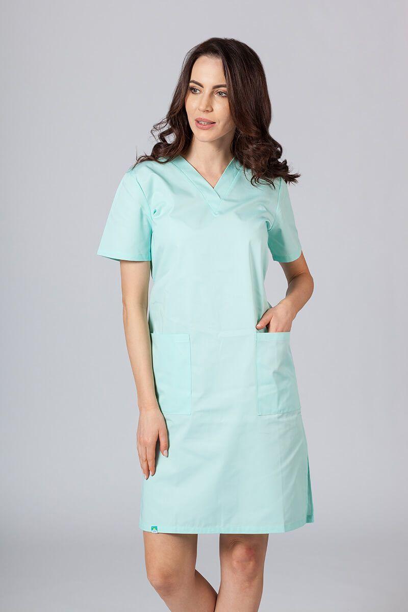 Lékarské Jednoduché šaty Sunrise Uniforms mátové