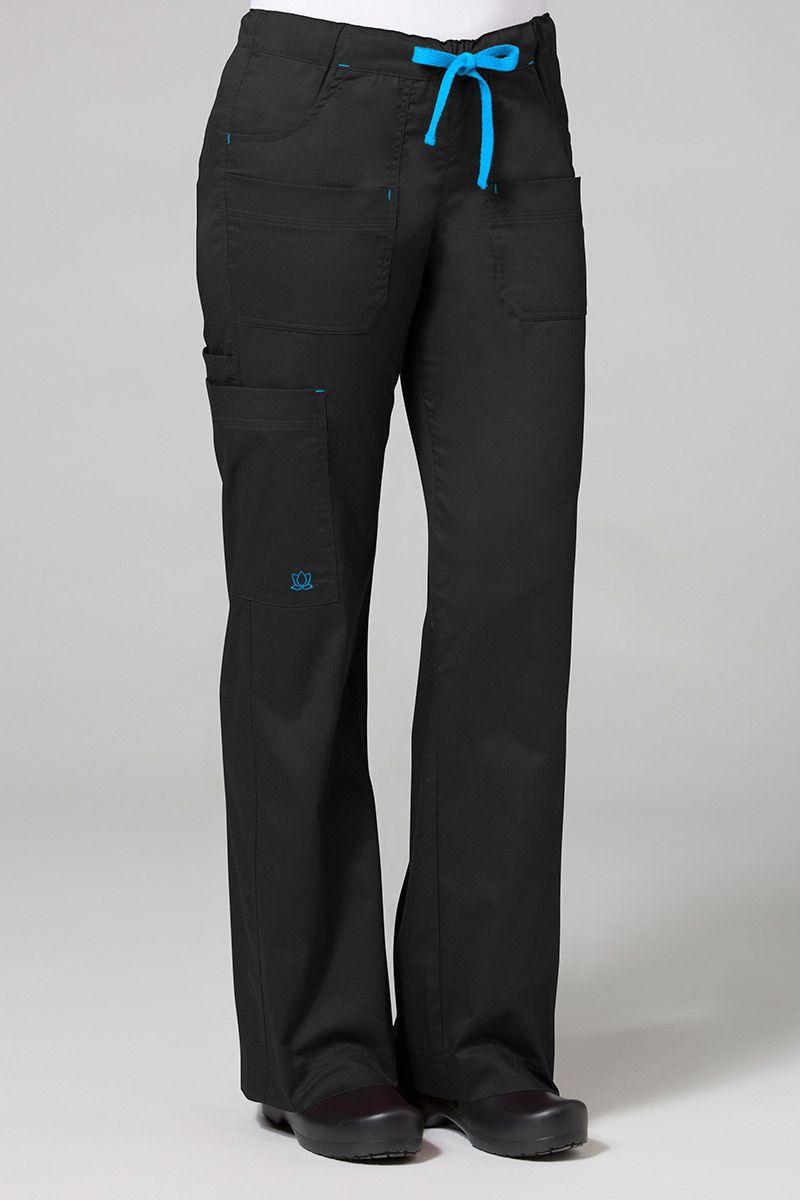 Lékařské kalhoty Maevn Blossom (elastic) černé