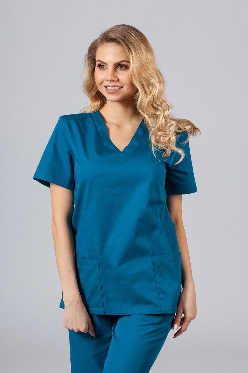 Lékarská blúzka Sunrise Uniforms karibska modrá