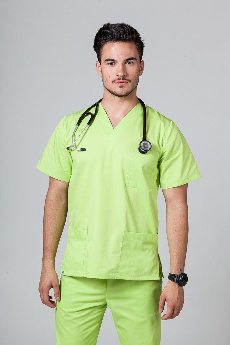 Univerzální lékařská mikina Sunrise Uniforms limetková