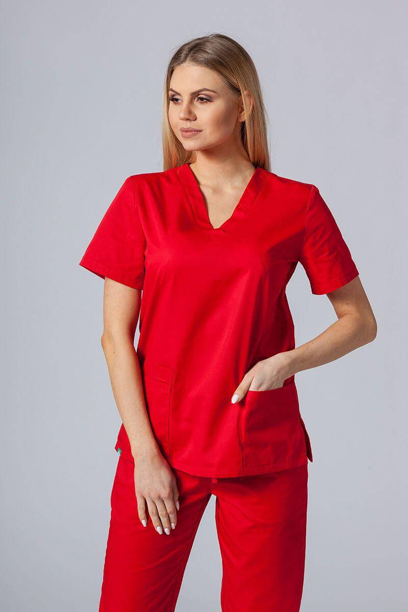 Lékarská blúzka Sunrise Uniforms červená