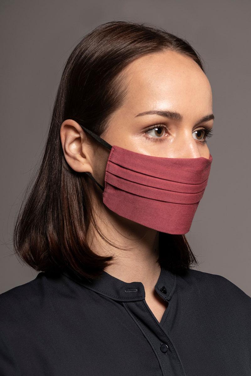 Ochranná maska, dvouvrstvá (100% len), unisex, ružová