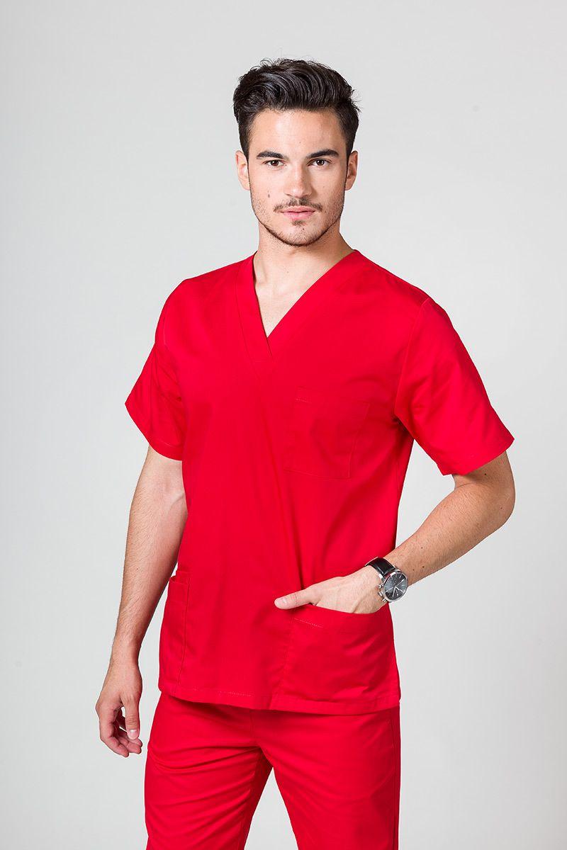 Univerzálna lekárska blúzka Sunrise Uniforms červená
