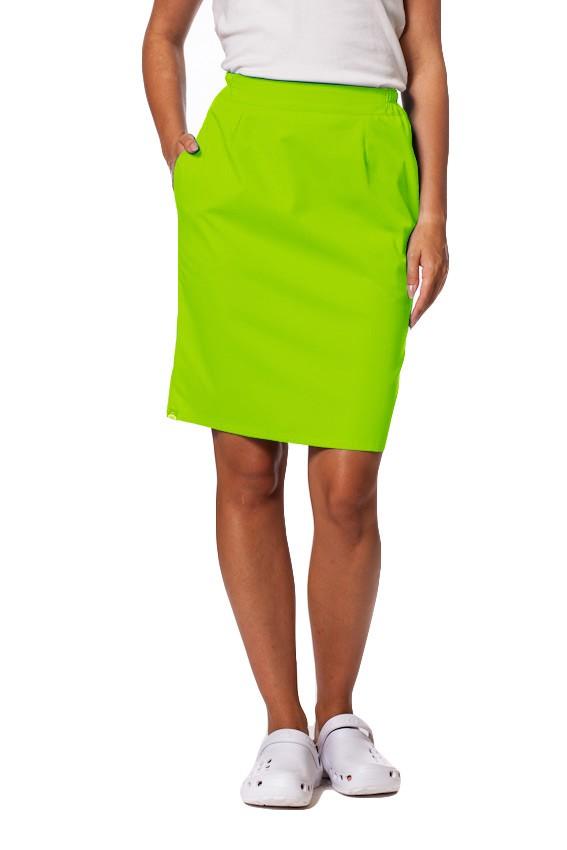 Sukně s kapsami Sunrise Uniforms limetková