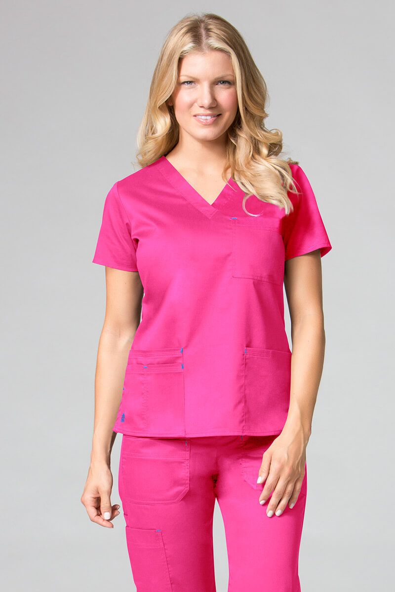 Lékařská halena Maevn Blossom (elastic) růžová