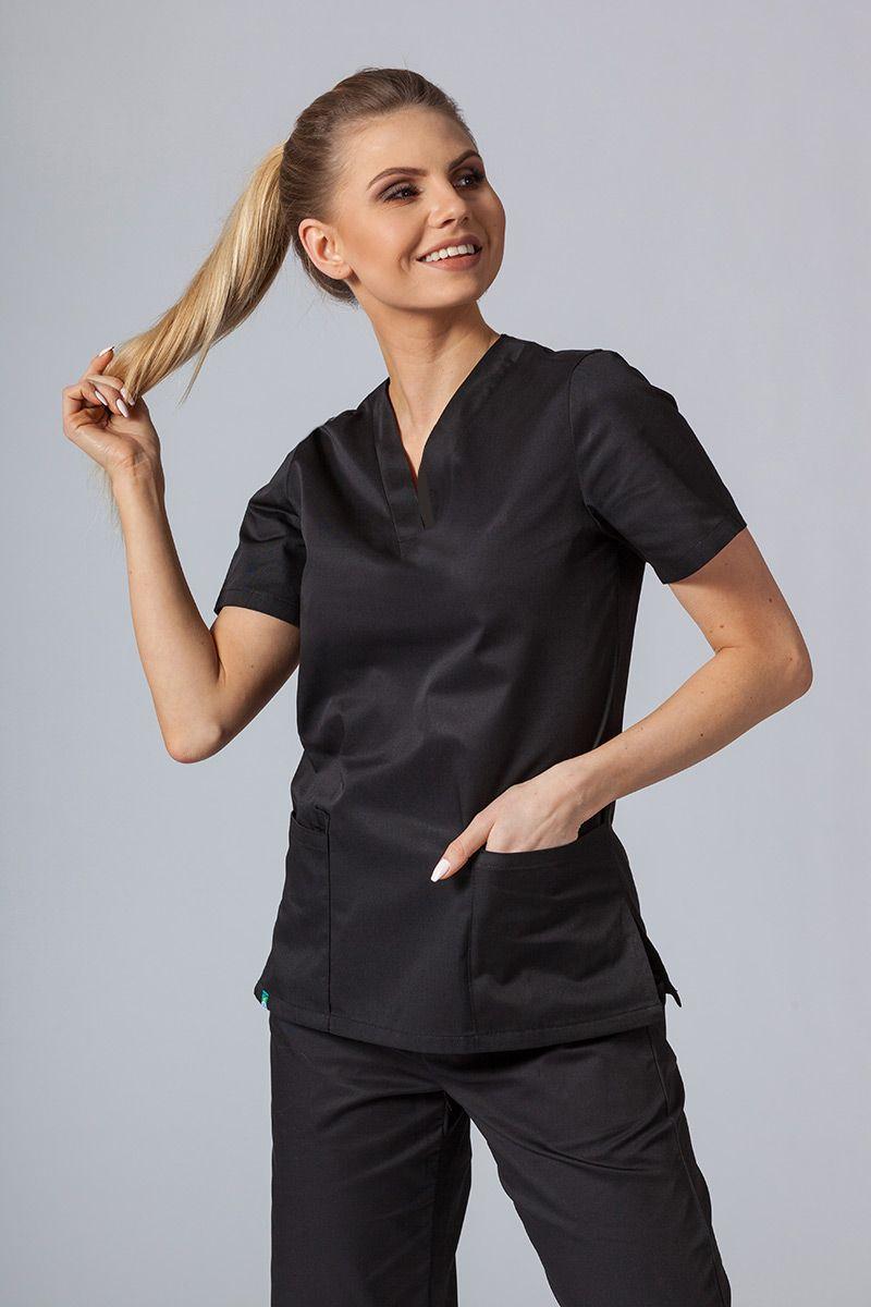 Lékarská blúzka Sunrise Uniforms čierna