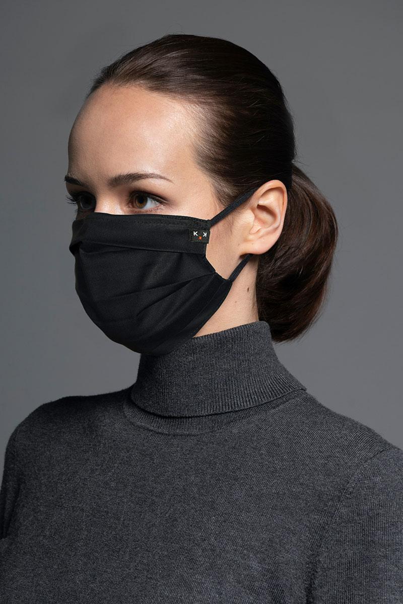 Ochranná maska Classic, 2-vrstvová s vreckom na filter (96% bavlna, 4% elastan), unisex, čierna