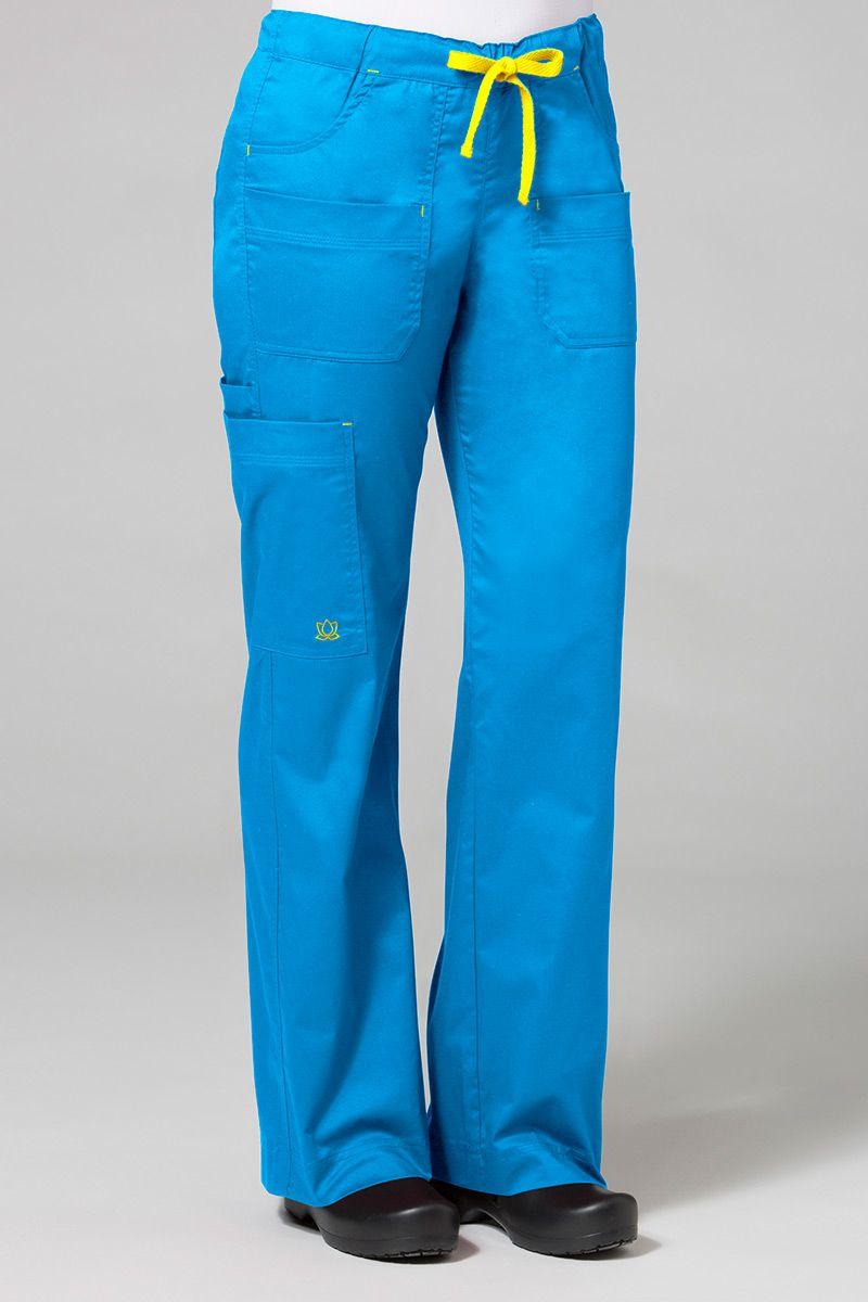 Lékařské kalhoty Maevn Blossom modré