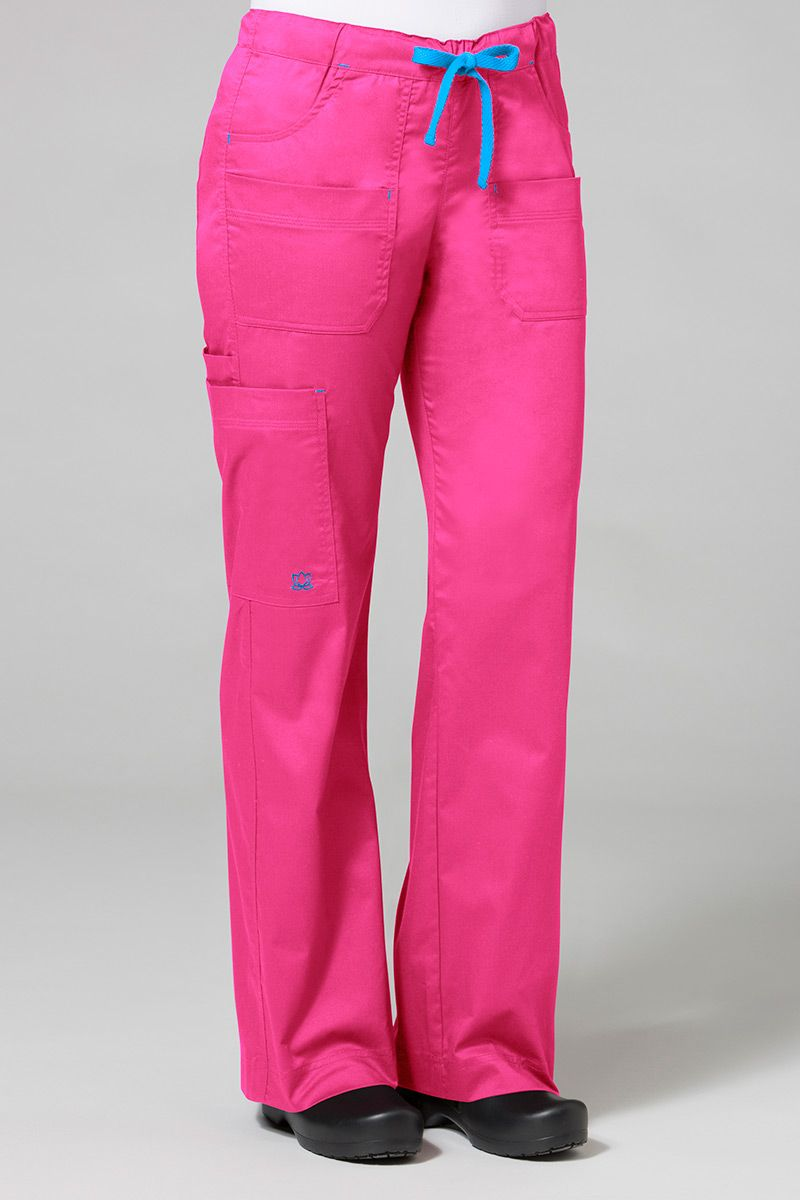 Lékařské kalhoty Maevn Blossom (elastic) růžové