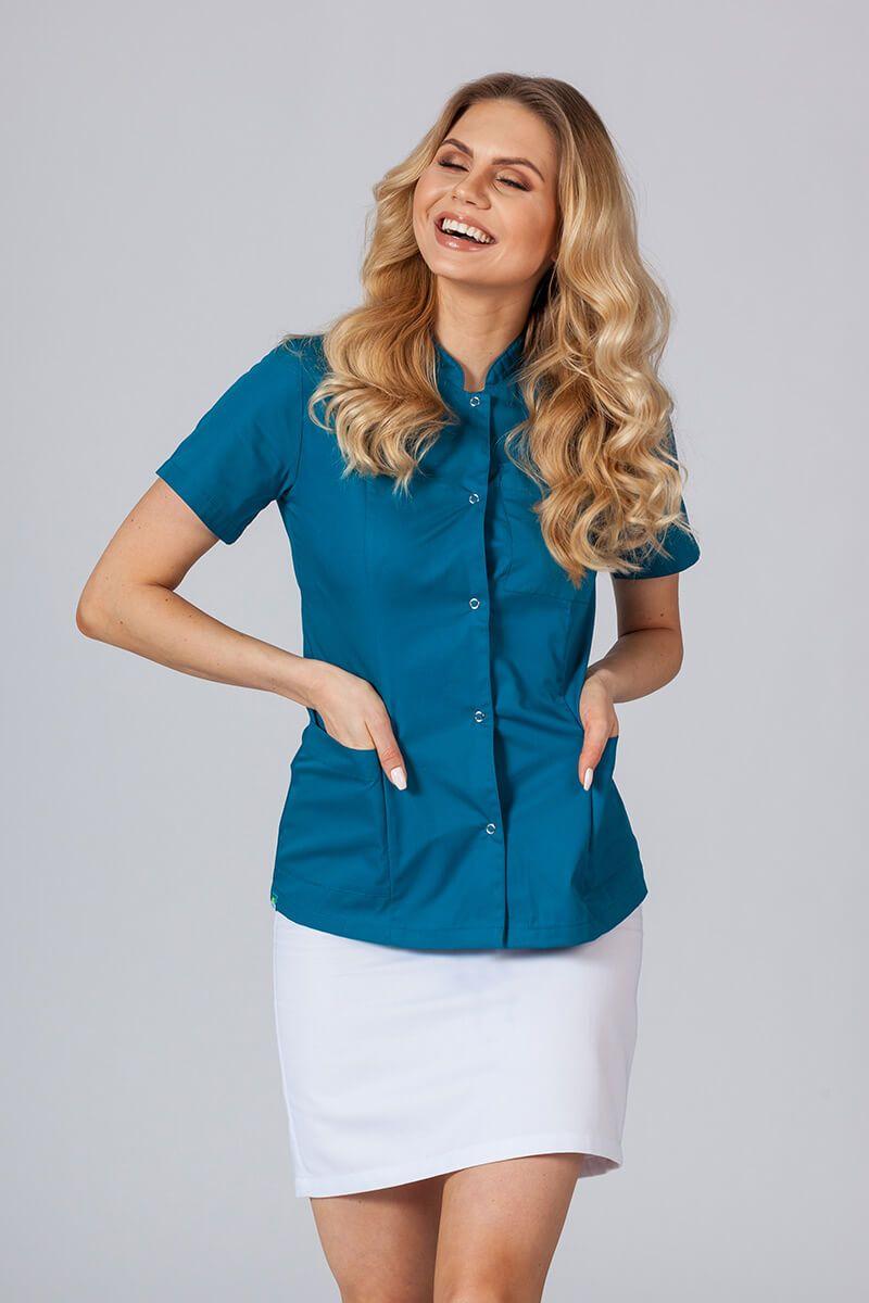 Lékařské sako 01 Sunrise Uniforms karaibsky modré