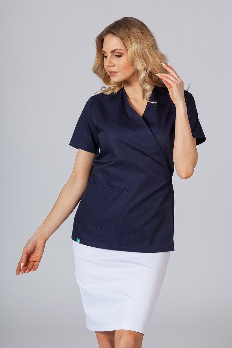 Zástěra/dámská blúzka s vázáním Sunrise Uniforms námornícká modrá