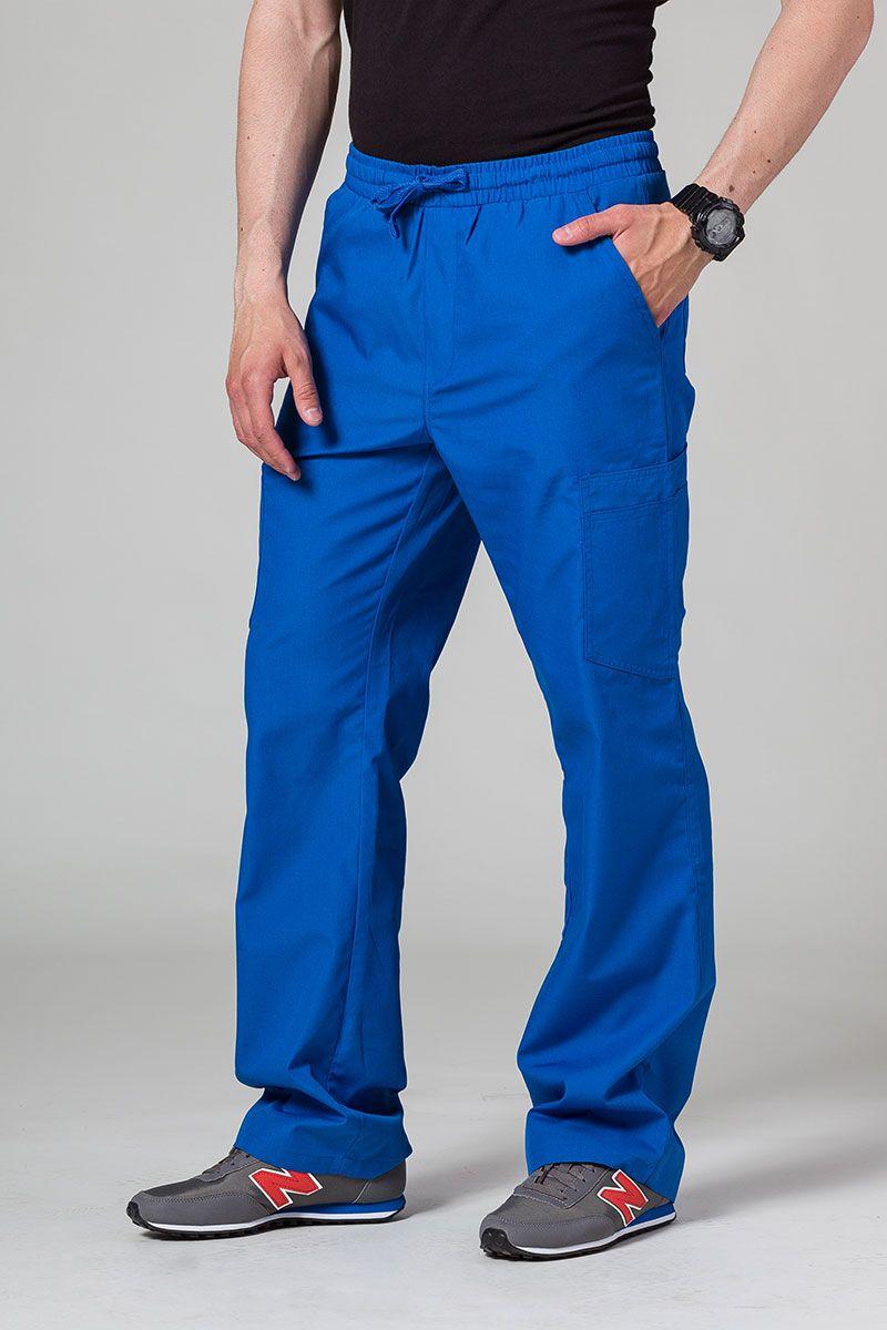 Pánské lékařské kalhoty Maevn Red Panda Cargo (6 kapes) královsky modré