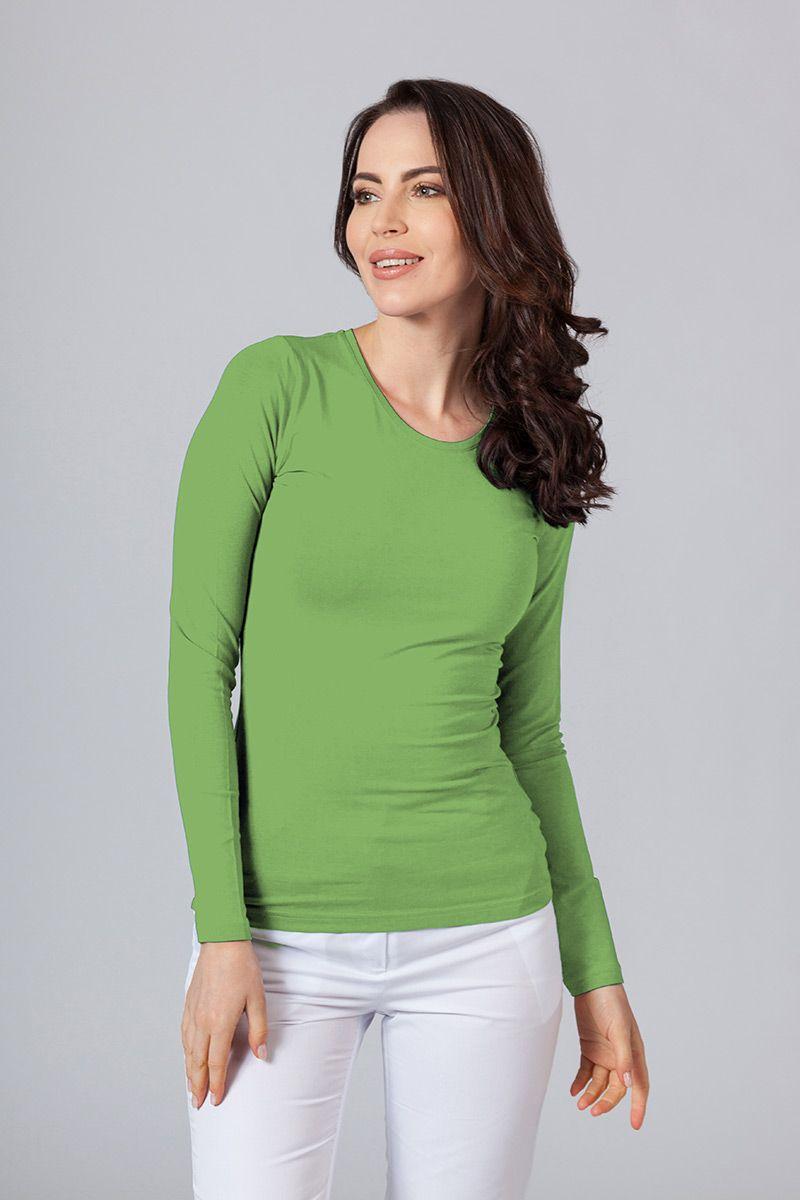 Dámské tričko s dlouhým rukávem - zelené