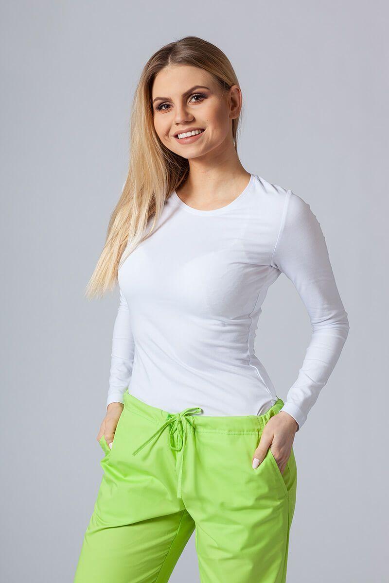 Dámske tričko s dlhým rukávom biele