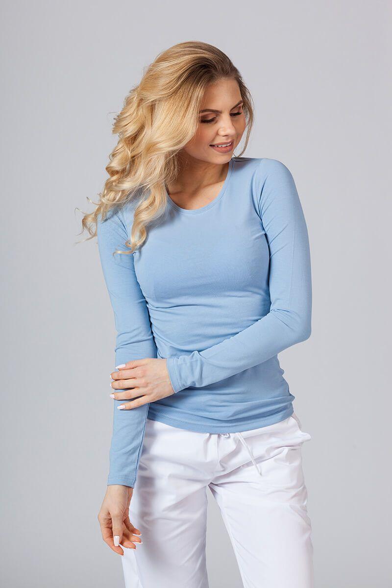 Dámske tričko s dlhým rukávom modré