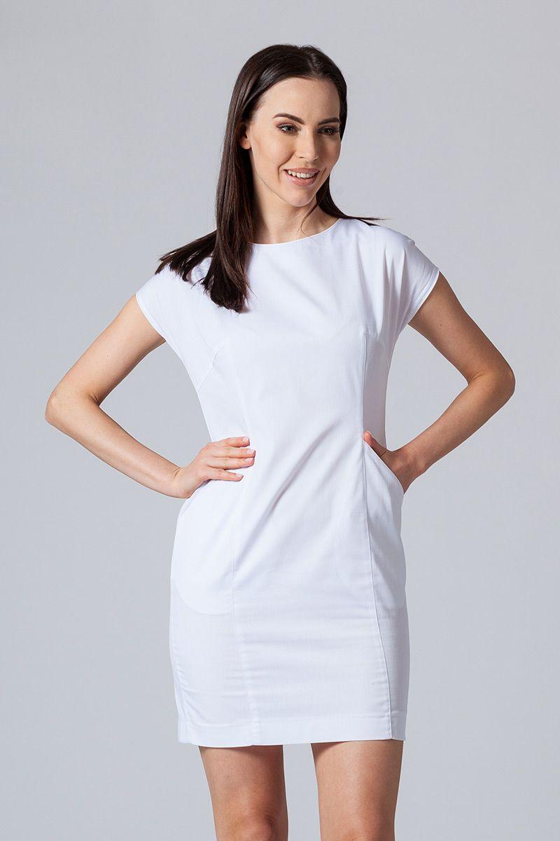 Šaty Sunrise Uniforms Elite bílá