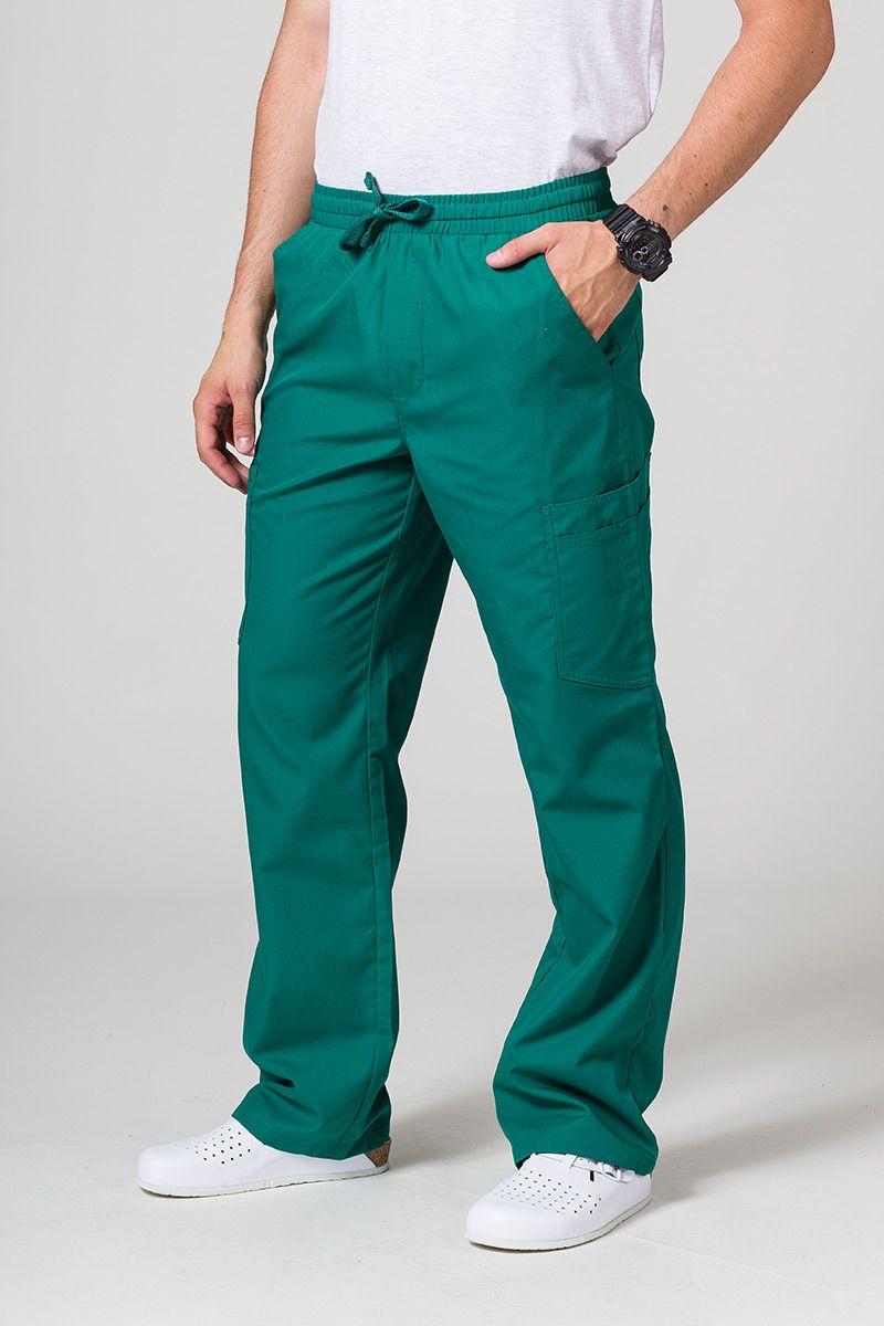 Pánské lékařské kalhoty Maevn Red Panda Cargo (6 kapes) zelené