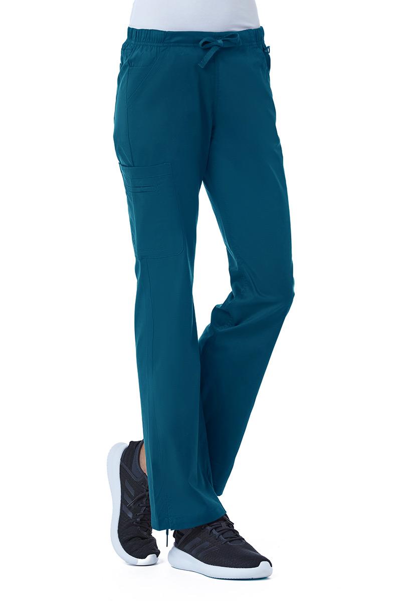 Lékařské kalhoty Maevn Blossom (elastic) karibsky modré