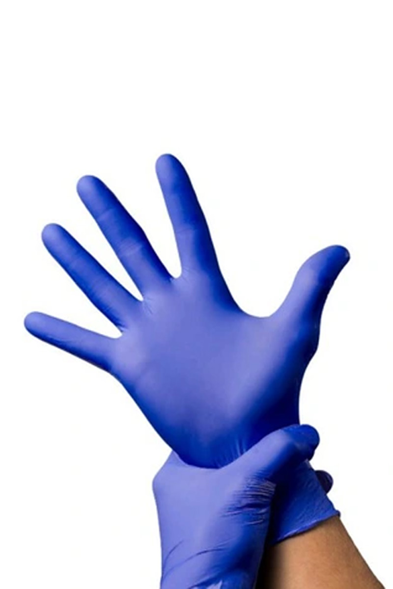 Certifikované nitrilové rukavice SteriProtect, nepudrové, modré, cena za 10 položek v balení (Steripak)