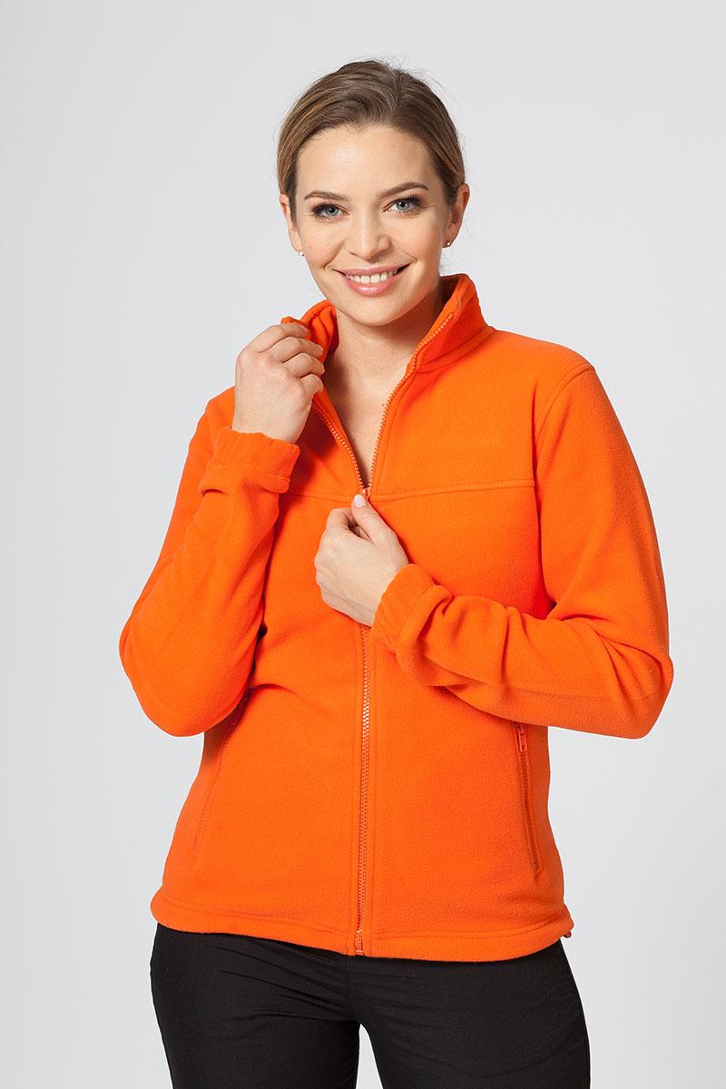 Dámska flísová mikina oranžová