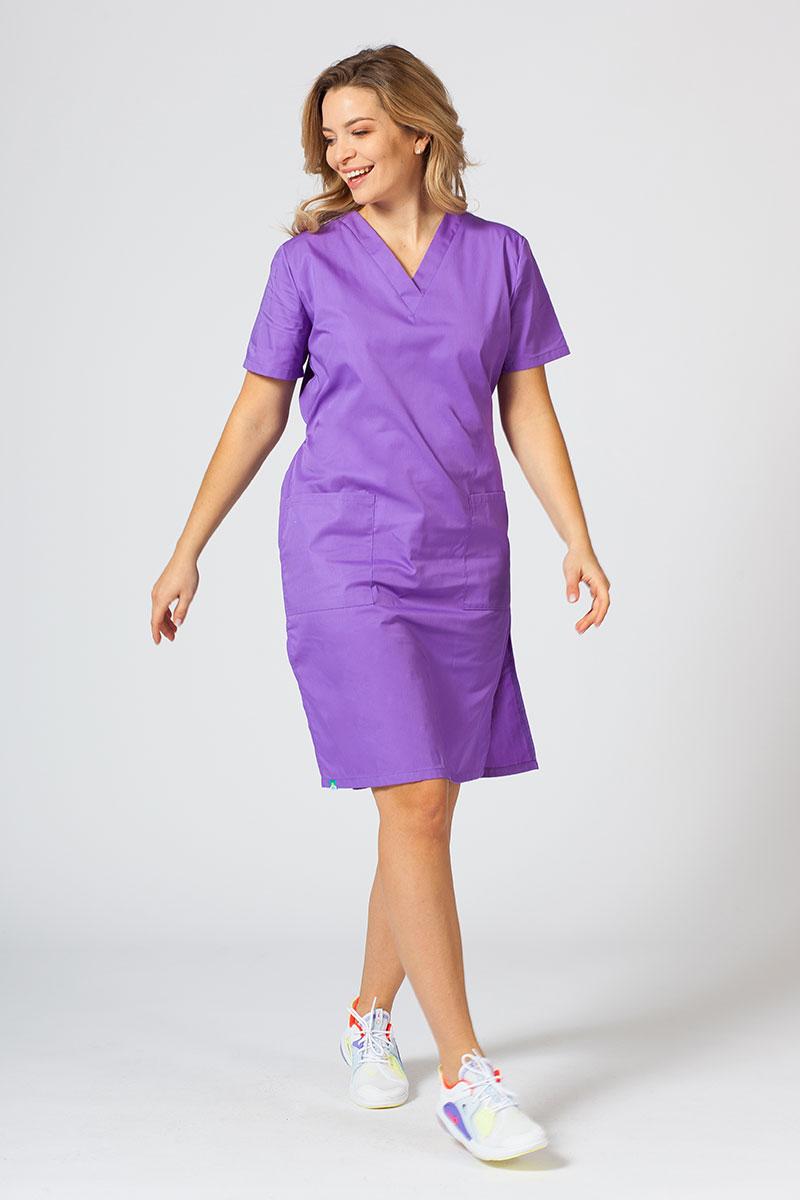 Lékarské Jednoduché šaty Sunrise Uniforms fialové