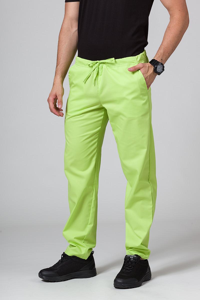 Univerzální lékarské nohavice Sunrise Uniforms limetkové