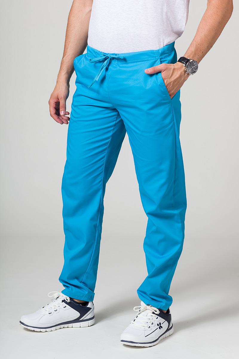 Univerzální lékarské nohavice Sunrise Uniforms tyrkysové