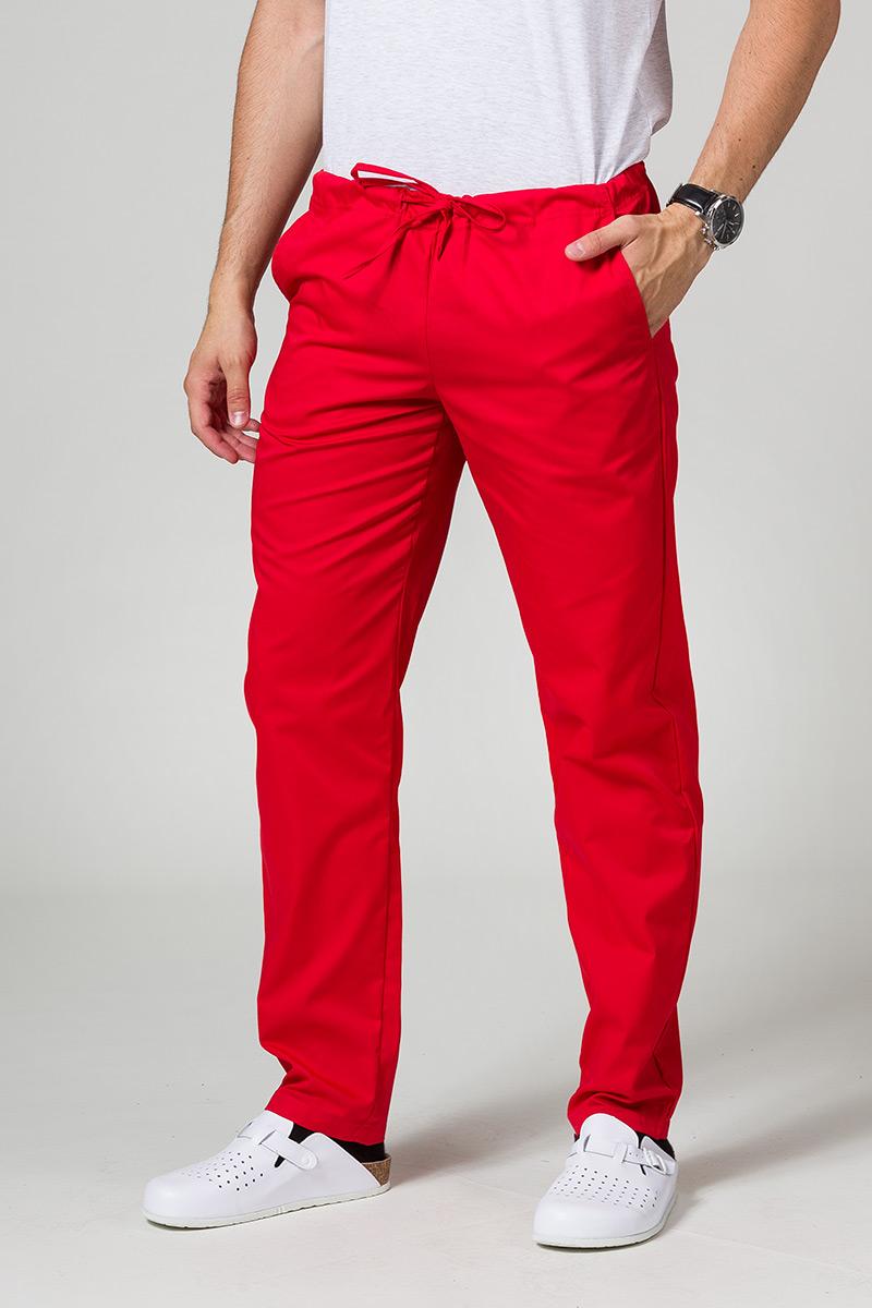 Univerzální lékarské nohavice Sunrise Uniforms červené