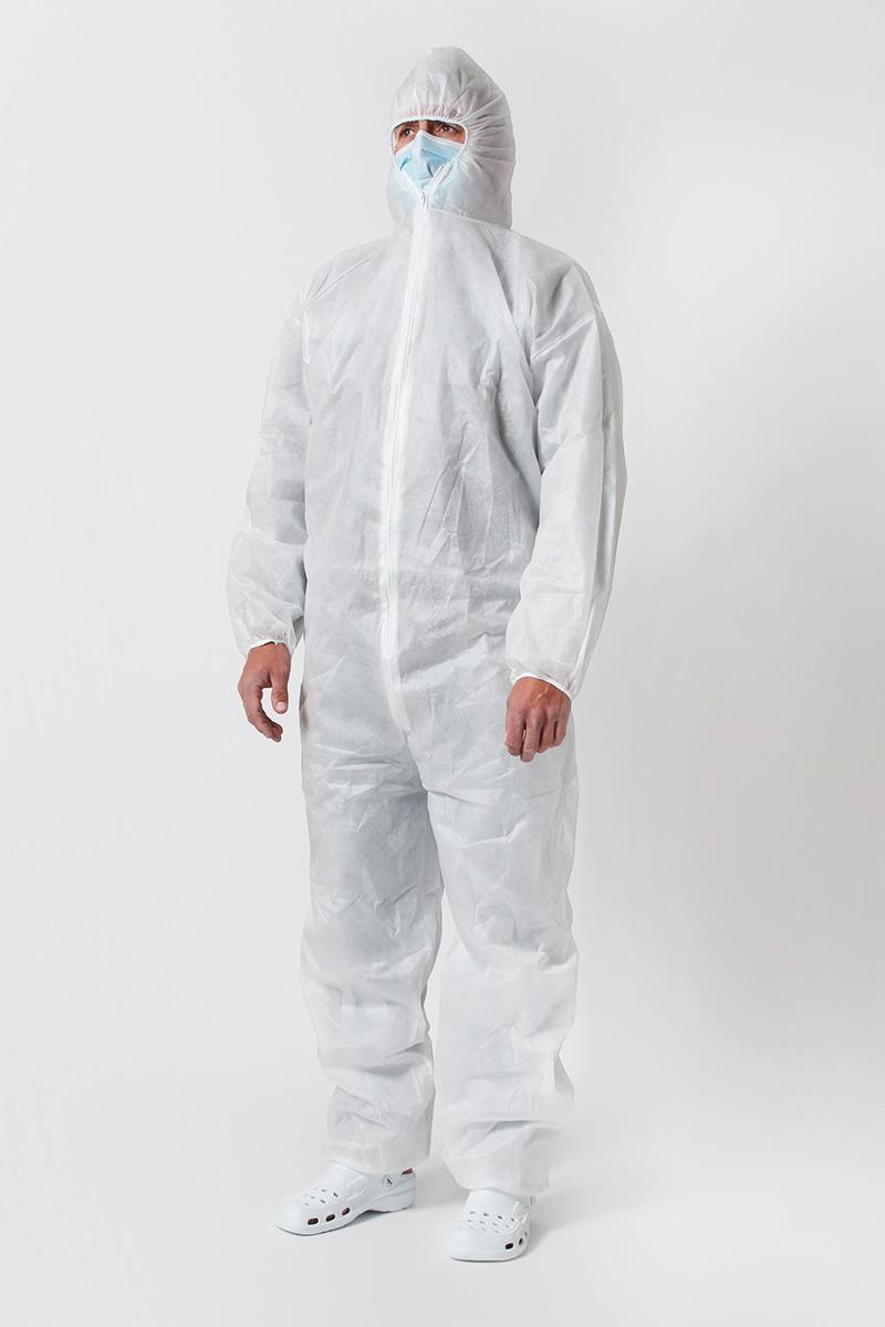Ochranná kombinéza z vlizelínu 30g/m2, bílá, univerzální velikost