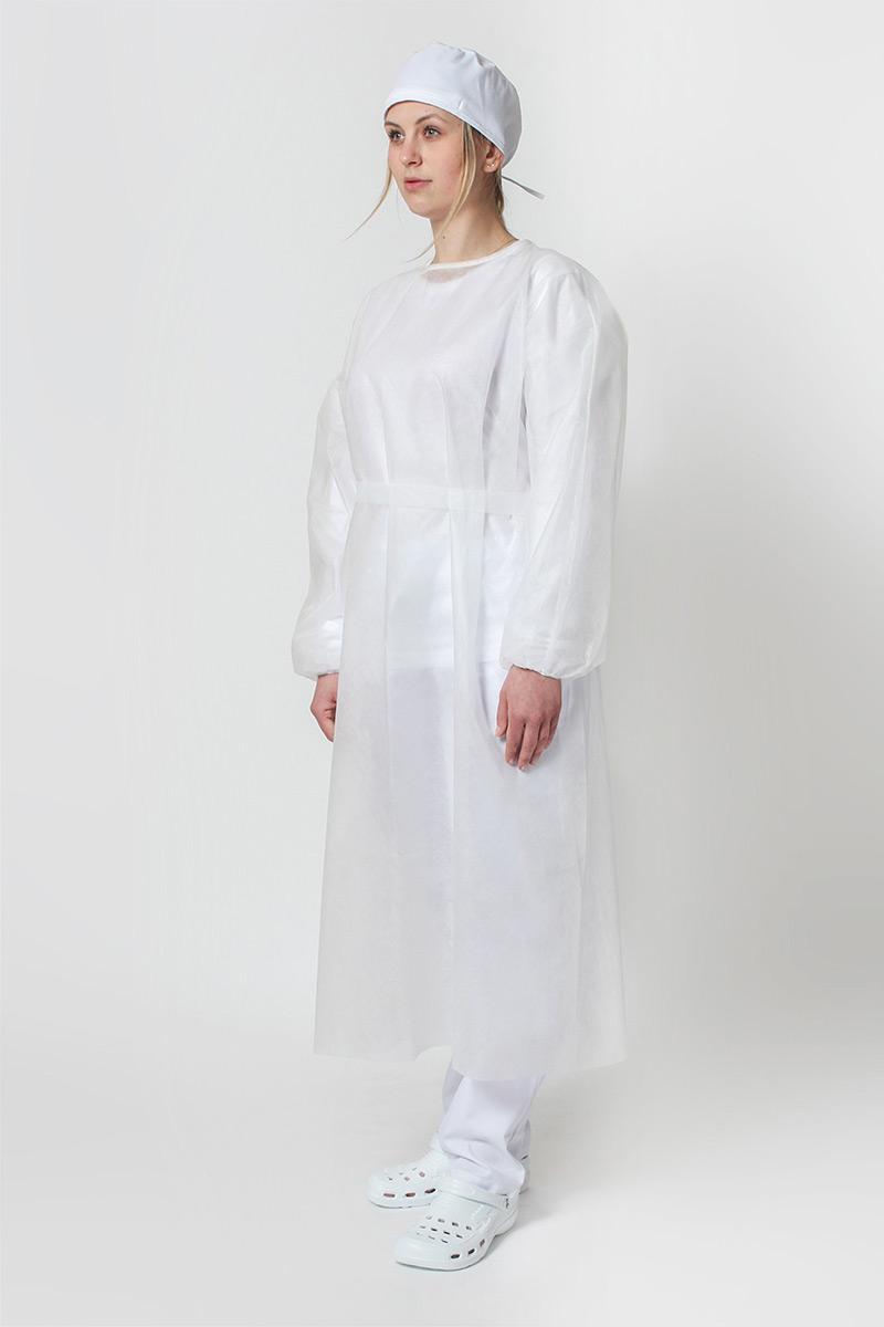 Ochranný plášť z vlizelínu 30g / m2, bílý, univerzální velikost