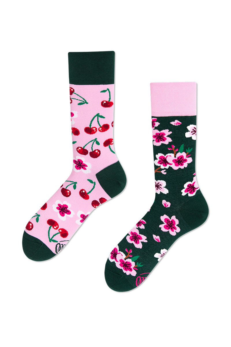 Barevné ponožky Cherry Blossom - Many Mornings