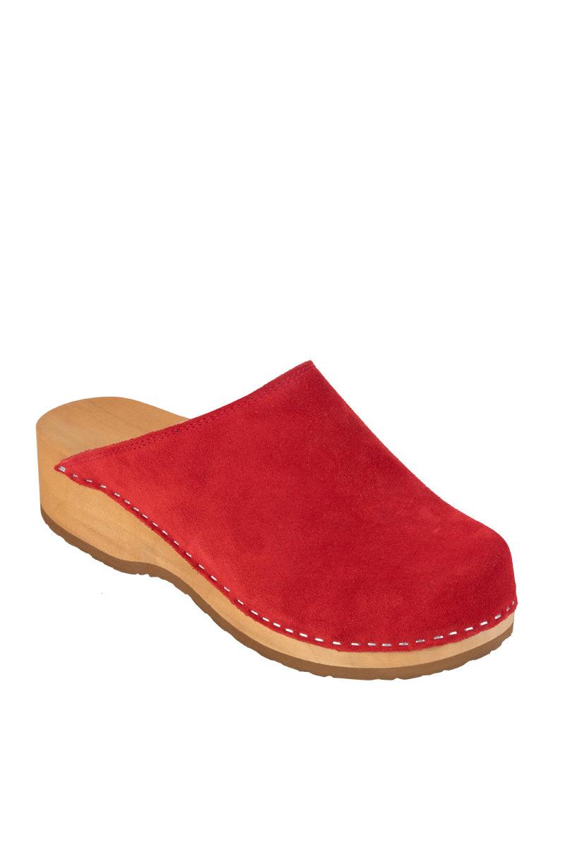 Zdravotní obuv Buxa model PZM1 červená semiš